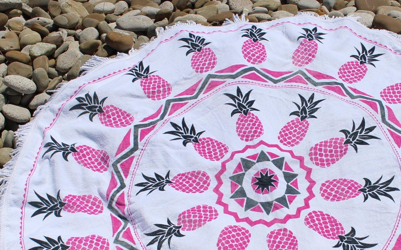 Round towel designed by Chris Heath
