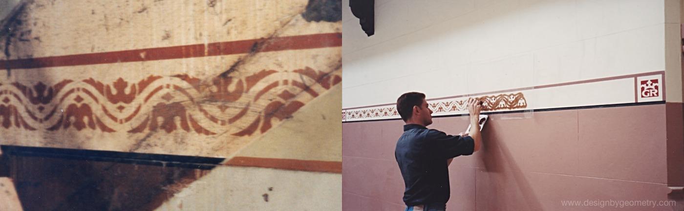 Original Dado Stencil (left),
