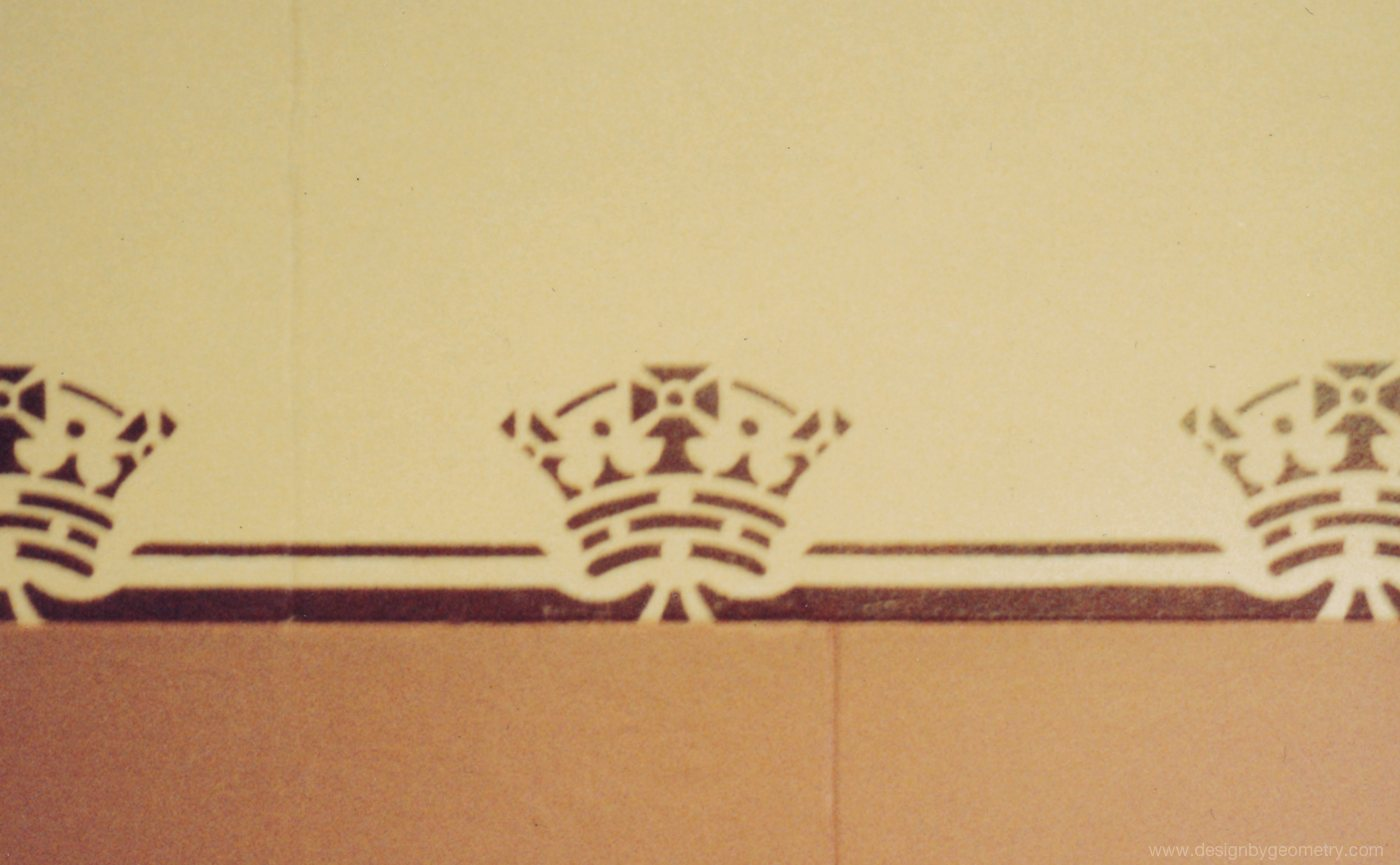 Crown Stencil Located in the Entrance to the Old High Court (Late 1980's)