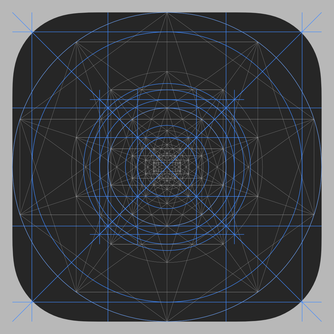 iOS Icon Grid Template