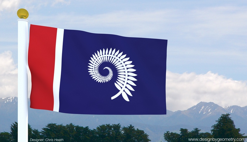 Silver Fern Koru Flag in Context