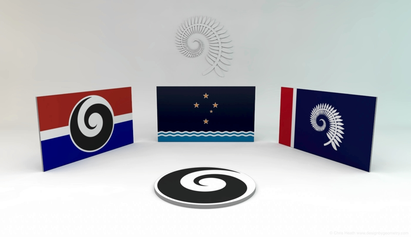 Flags 3D Render