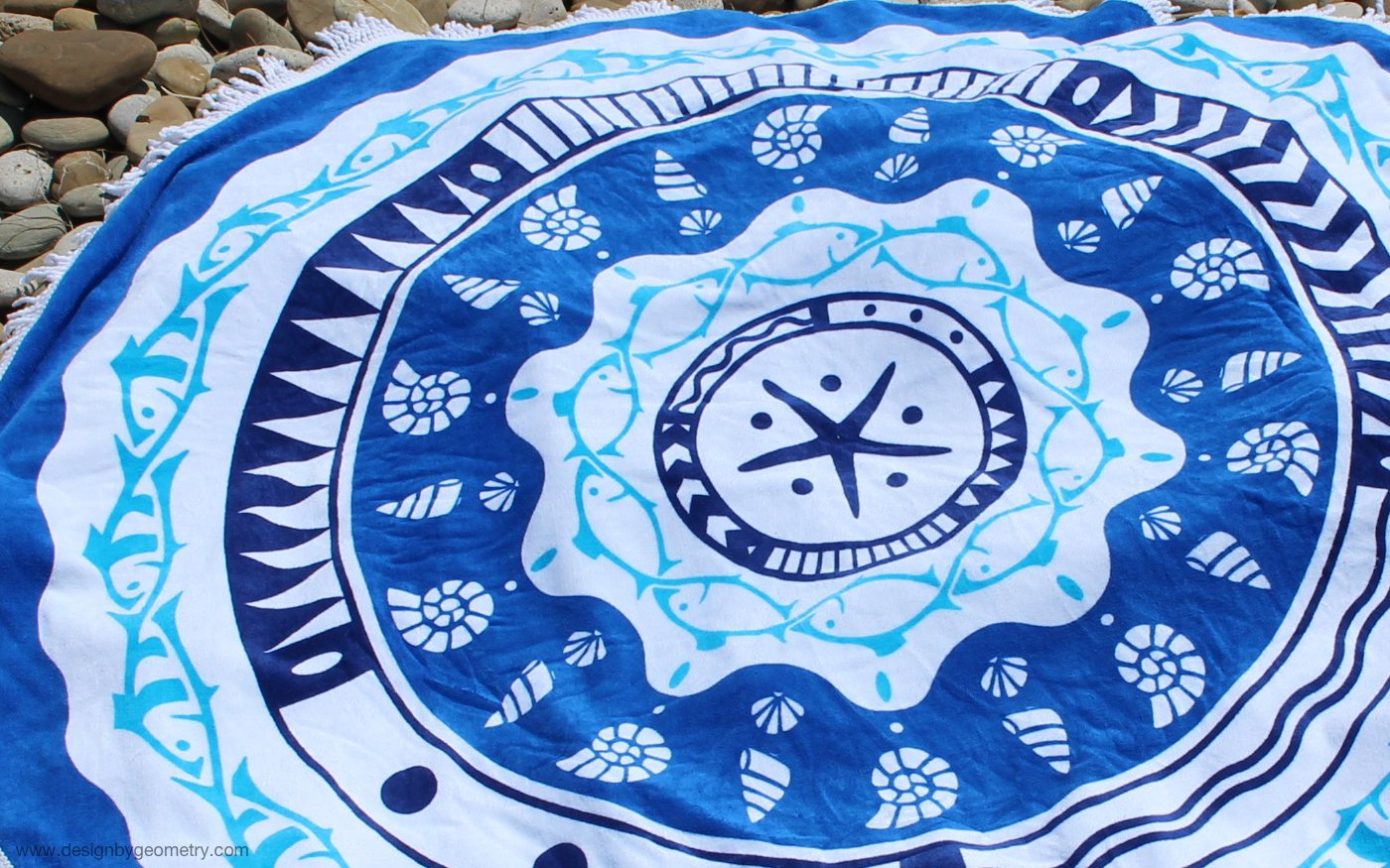 Urchin round towel designed by Chris Heath