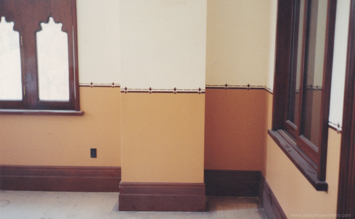 Dado Pattern used upstairs in the offices (late 1980's)