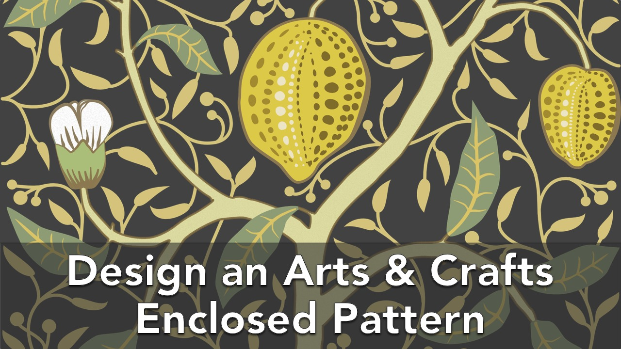 Design an Arts & Crafts Enclosed decorative Pattern