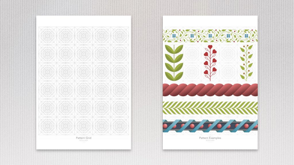 Grid (left) and Border Patterns (right)